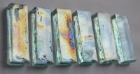Deko Mosaiksteine irisierend 1,5x 4,8 cm türkis 6 St.-ca. 80g