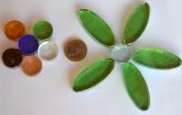 Deko Mosaiksteine Mix-Blüten (oval-rund) 12 St. ca.107g