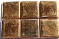 Goldmosaik 6 St. a 2,5x2,5cm, 2. Wahl ca. 40 g.