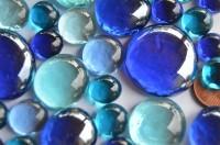 Glasnuggets Blaumix, 4 versch. Größen 1-3 cm 118g ca.52St.