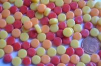 Mini Mosaiksteine glänzend rund 8mm Sonnenmix 40g, ca. 90-100 St