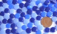 Mini Mosaiksteine glänzend rund 8mm Blaumix 40g, ca. 90-100 St.