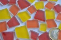 Mosaiksteine unregelm. Frost Sonnenmix 100g ca. 40St.