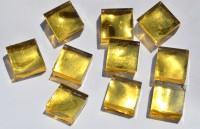 Goldmosaik Gelbgold mit Struktur (gehämmert) 1x1cm 10 St.- ca.9g