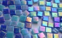 Mosaiksteine Blaumix mit Regenbogenschimmer 1x1cm, 100 St.-ca68g