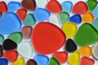 Pebbles Soft-Glas Mosaiksteine Buntmix 40 St.- ca. 105g.