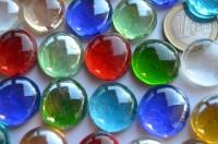 Deko Mosaiksteine Glasnuggets transp. 17-20mm bunt 100g, ca20 St