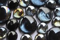 Glasnuggets Schwarzmix, 2 versch. Größen 17-30 mm 30 St. ca.150g