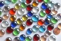 Glasnuggets Deko Mosaiksteine 13-15mm bunt 100g ca. 35 Stück