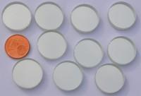 Spiegelmosaik rund 2 cm silber Stärke 4-5 mm 10 St.- ca. 34g.