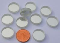 Spiegelmosaik rund 15mm silber Stärke 4-5 mm 10 St. ca.18g.