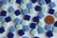 Fantasy Mosaiksteine 1x1cm Blaumix 100g. ca.100 St.