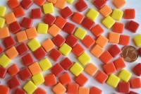 Fantasy Mosaiksteine 1x1cm Sonnenmix 100g. ca.100 St.