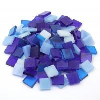 Tiffany Glas Blaumix 1,5x1,5cm 200g. ca. 130 St.