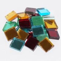 Spiegelmosaik bunt mixN2, 2x2cm Stärke 3-4mm, 125g ca. 40 St.