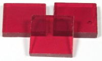 Tiffany Glas rubin 1x1cm transparent 200g. ca. 300 St.