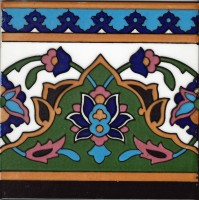 Orientalische Bordüre handbemalt Hashiye-sabz 1 St. 20x20 cm