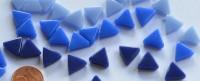 Mini Mosaiksteine dreieckig Seitenlänge 1cm Blaumix 30g ca.55 St