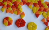 Mosaiksteine dreieckig Seitenlänge 1cm Sonnenmix 30g ca.55 St.