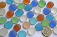 Glasnuggets Frost 17-20mm Deko Mosaiksteine bunt 100g, ca.20St.