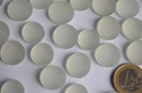 Glasnuggets Frost 15-19mm Deko Mosaiksteine weiß 100g ca. 20St.