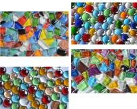 Mosaiksteine Weihnachts-Bastelmix 4versch. Artikeln 410g ca180St