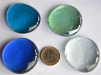 Deko Mosaiksteine Glasnuggets XL 4-4,5 cm lagune 4 St.- ca. 110g