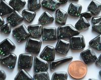Glitter Mosaiksteine unregelmäßig schwarz 100g ca. 60 St.
