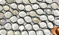 Glasnuggets Deko Mosaiksteine 13-15mm glasklar 100g ca. 35 St.