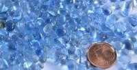Deko Mosaiksteine Glaskiesel 3-10mm himmelblau 100g ca. 600 St.