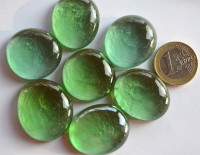 Deko Mosaiksteine Glasnuggets 26-33mm zweierlei grün 6 St. ca60g