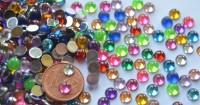 Mini Acrylmosaik Durchmesser 5mm rund bunt 500 Stück ca.15g