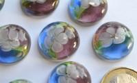 Deko Mosaiksteine Glasnuggets 19-21mm Blüte Nr.7, 1 St. ca. 4g