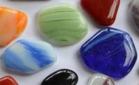 Glas Mosaiksteine unreg. marmoriert bunt frostsicher 300g ca50St