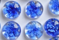 Deko Mosaiksteine Glasnuggets 19-21mm Blüte Nr.9-B, 1 St. ca. 4g