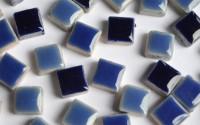 Mini Mosaiksteine Keramik Mix dunkelblau 1x1cm 100g ca. 100 St.