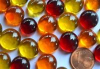 Deko Mosaiksteine Glasnuggets 10-13mm Sonnenmix 100g ca.60St.