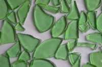 Seeglas Glasscherben transparent grün 1-5cm groß 300g. ca200St.