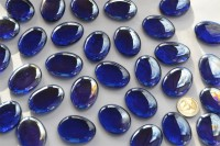 Deko Mosaiksteine Glas-Pebbles 4-5 cm dunkelblau 4 St. ca. 70g