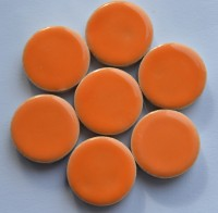 Keramik Mosaiksteine rund glanzend 17-18 mm orange 10 St.- 20g