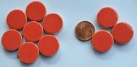 Keramik Mosaiksteine rund glanzend 17-18 mm rot 10 St.- 20g