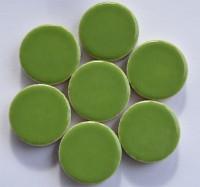 Keramik Mosaiksteine rund glanzend 17-18 mm grün 10 St.- 20g