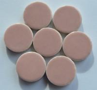 Keramik Mosaiksteine rund glanzend 17-18 mm rosa 10 St.- 20g
