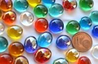 Mini Glasnuggets 10-12mm bunt transparent 70g ca.50 St.