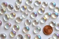 Mini Glasnuggets 10-12mm weiß irisierend transp. 70g ca. 50 St.