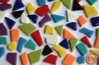 Glas Mosaiksteine unreg. bunt 1-2cm frostsicher 100g ca. 45-50St