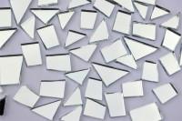 Spiegelmosaik Formen-Mix 15-35mm silber 105g ca. 48 St. B-Ware!!