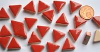 Mosaiksteine dreieckig Seitenlänge ca. 14 mm rot 50g ca.50 St.