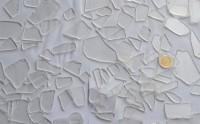 Restglas klar strukturiert ca. 1-7cm, 500 Gramm, ca. 100 St.