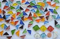 Soft-Glas Mosaiksteine dreieckig bunt 200g ca. 100 St.